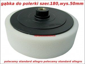 180MM GĄBKA DO POLERKI SILVER